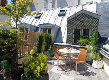 0-Paris Apartments-Ile Saint Louis-Terrace-Anthurium