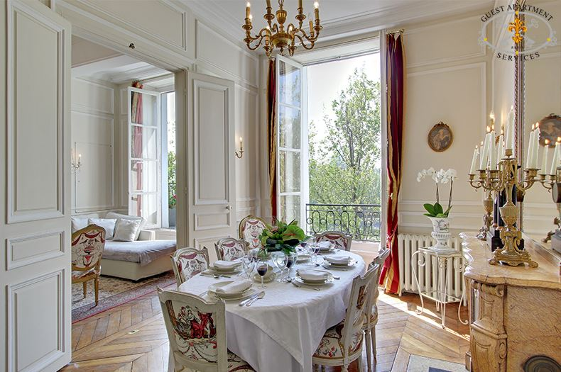 Magnolia luxury paris vacation rental for Most beautiful dining rooms in paris
