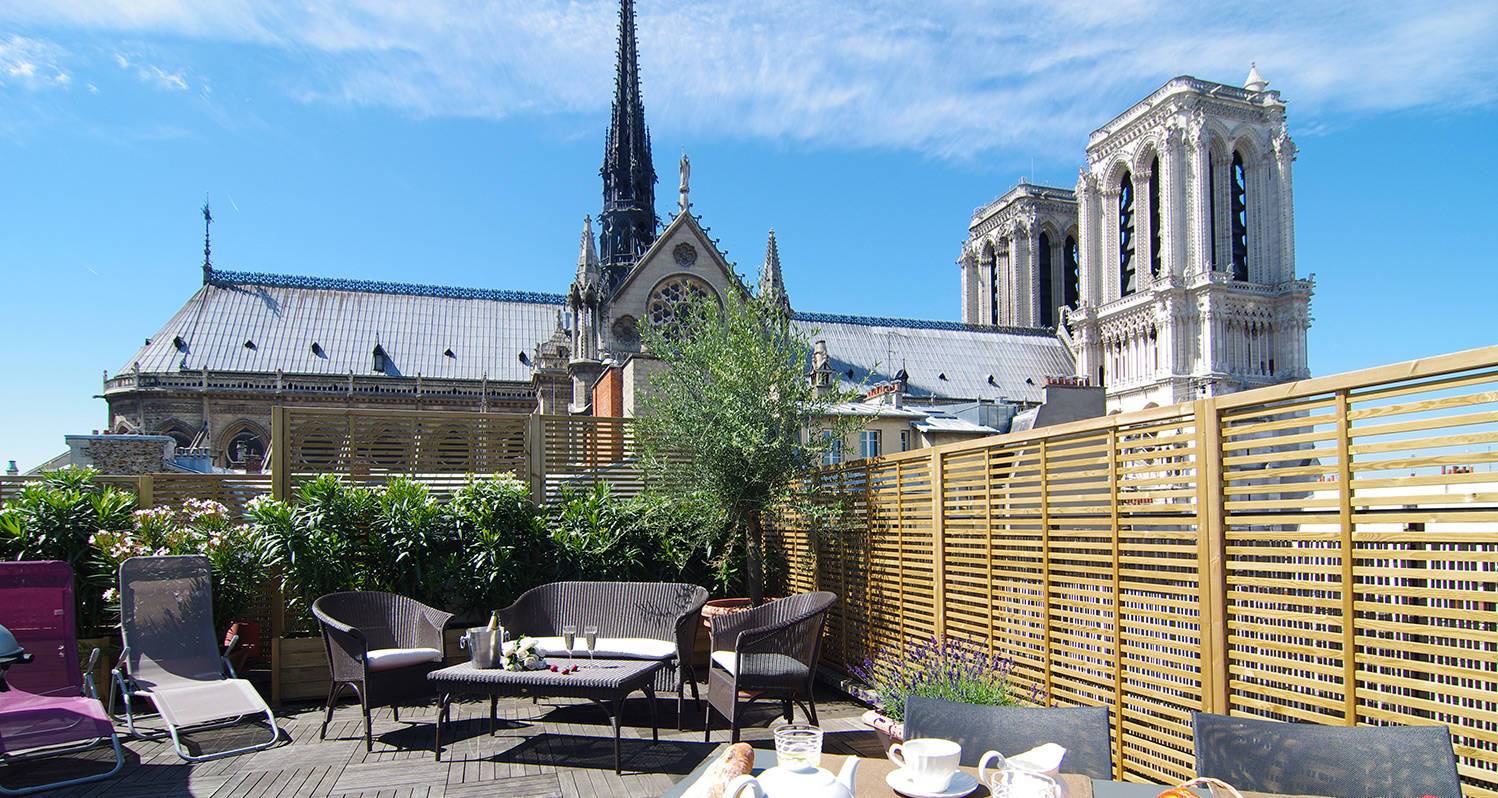 Paris-rooftop-garden-Notre-Dame-Paris-view