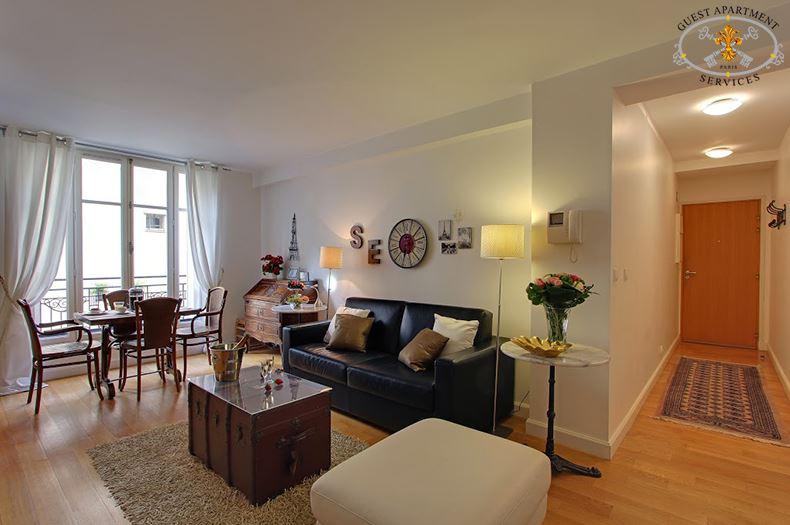 8 Luxury Apartment Paris Ile Saint Louis Short Term  Rental Living Rooms Concierge Services Ginger