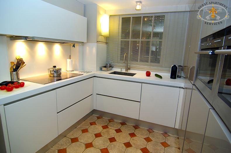 17 Luxury Apartment Paris Place Des Vosges Kitchen Modern Short Term  Rental Pansy