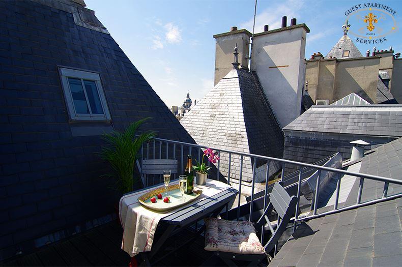 42 Luxury Properties Place Des Vosges Short Term Rental Terrace Paris Flora