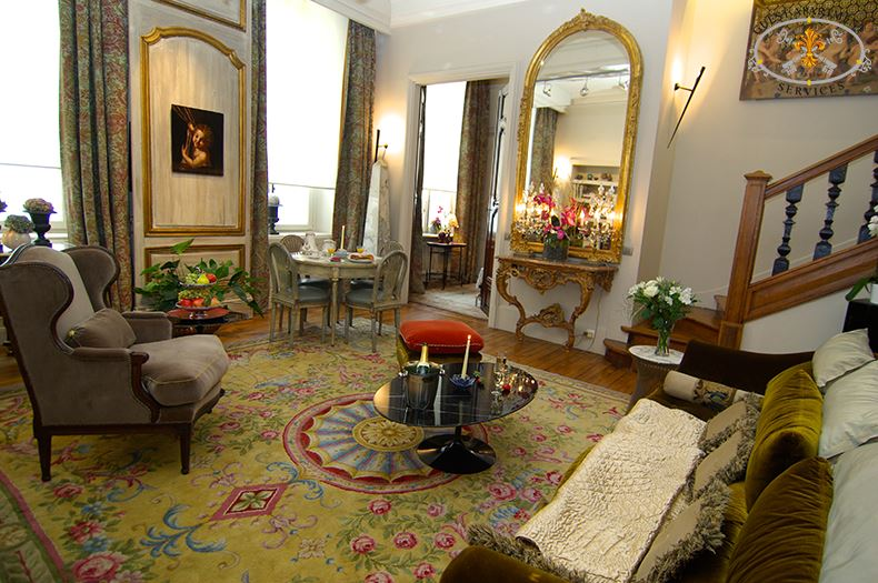 5 Luxury Apartment Paris Place Des Vosges Living Room To Rent