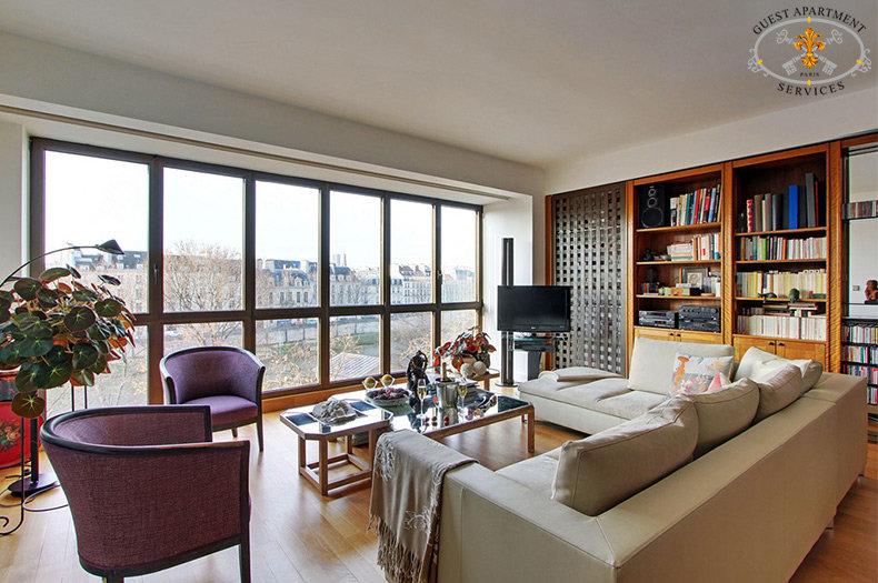 Paris Modern Apartment Rental Facing Ile Saint Louis
